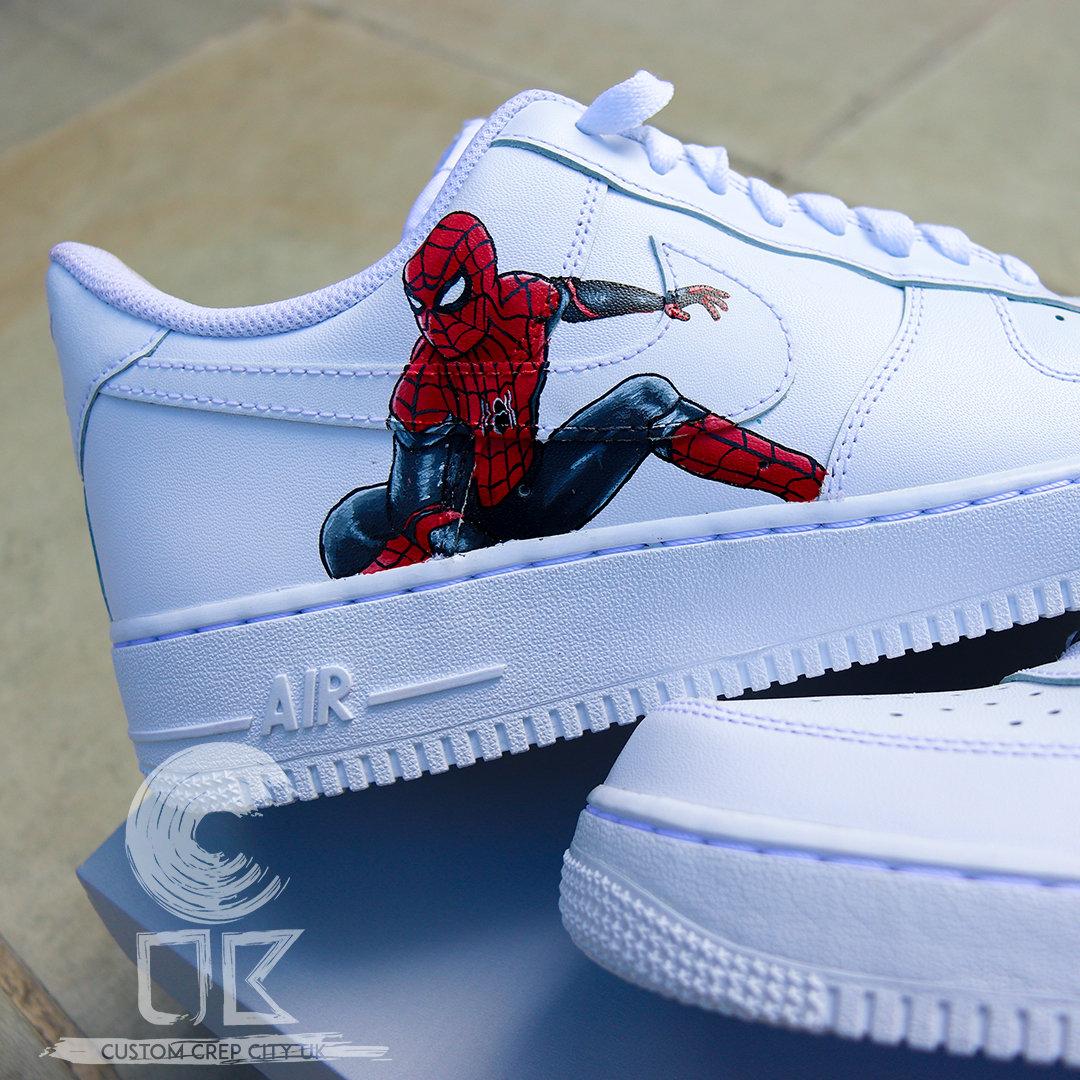 Custom Nike Air Force 1 Low (Spiderman