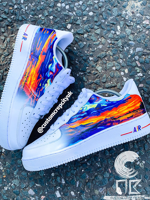Custom Nike Air Force 1 Low (Sunset)