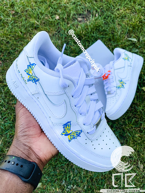 Custom Nike Air Force 1 Low (Down's Syndrome Butterfly)