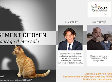 """Animation de la soirée """"L'Engagement citoyen"""" du CJD Cognac le 31 mai"""