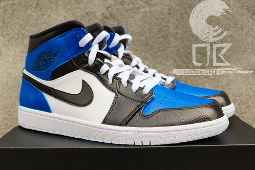Custom Air Jordan 1 Mid (Royal Blue)