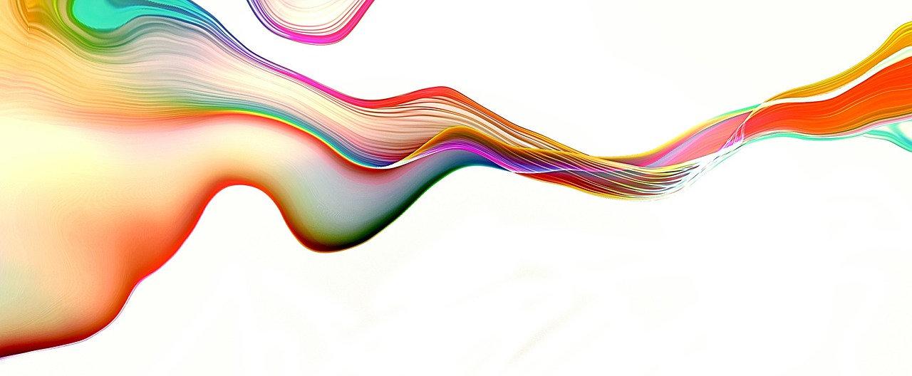 Background image rainbow waves