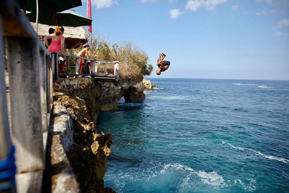 Hucking a gainer!