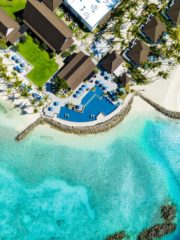 SAii Lagoon Maldives_Aerial Pool Shot 1.