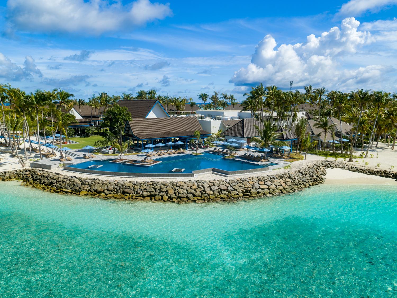 SAii Lagoon Maldives_Aerial Pool Shot 2.