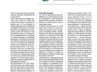 Opérations de maintien de la paix: un marché d'avenir pour les ESSD françaises