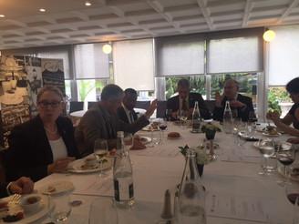 Lors de la venue a Lyon du Dr Erroll Southers, en présence de Mme Rebecca Kimbrell, Consul des Etats