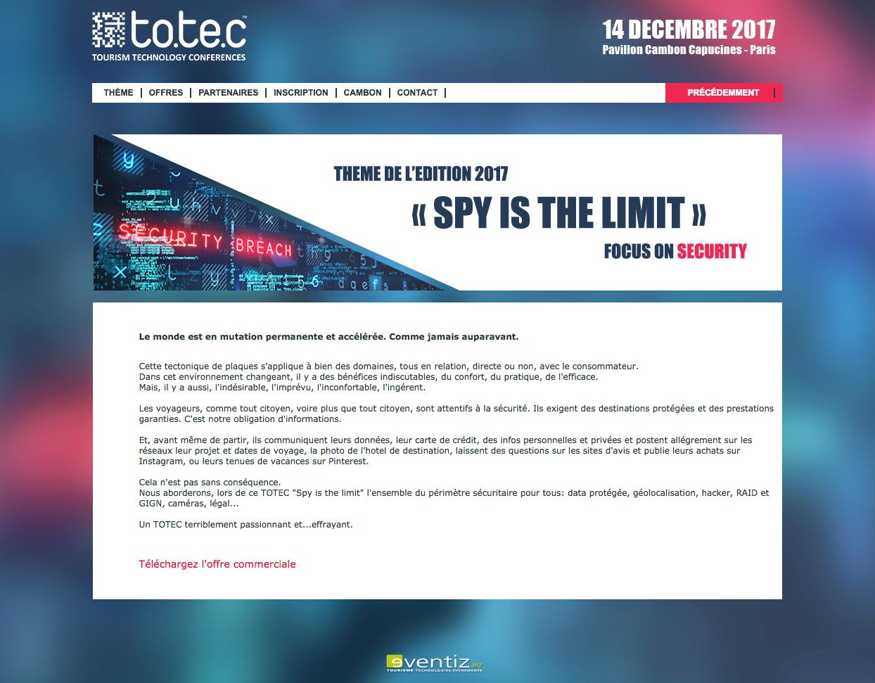 TOTEC - page site web