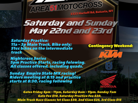 Join us this weekend, May 22nd and 23rd!