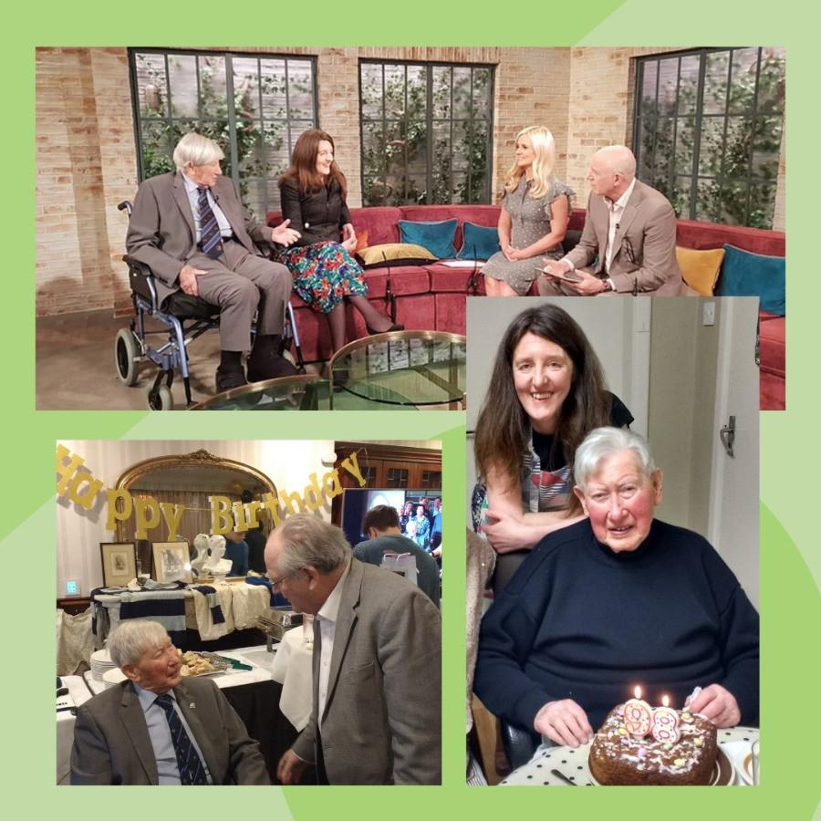 David Bell and Elder Home Share founder Saoirse Sheridan