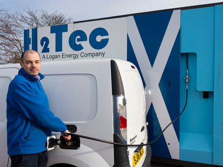 H2Tec builds first publicly-accessible hydrogen refuelling station in Scotland's central belt.