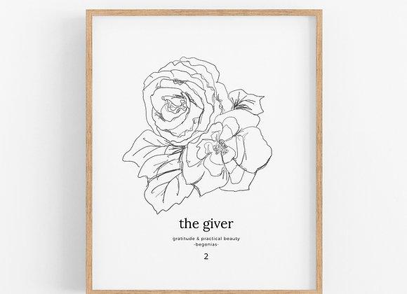 Enneagram 2 - The Giver - Flower Print Digital Download