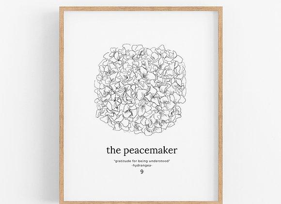 Enneagram 9 - The Peacemaker - Flower Print Digital Download