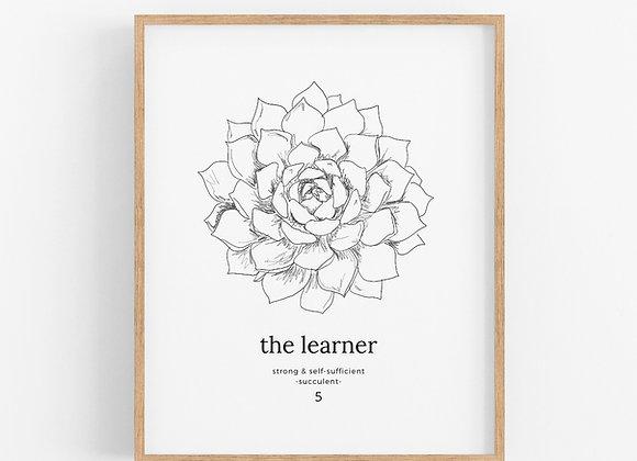 Enneagram 5 - The Learner - Flower Print Digital Download