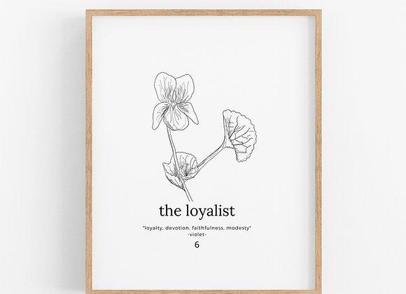 Enneagram 6 - The Loyalist - Flower Print Digital Download