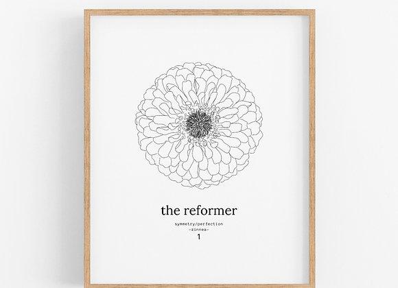 Enneagram 1 - The Reformer - Flower Print Digital Download