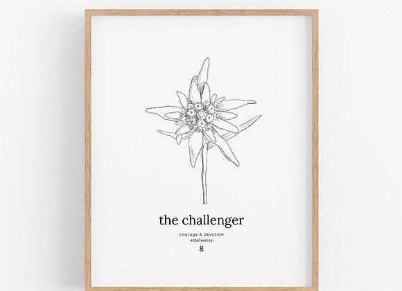 Enneagram 8 - The Challenger - Flower Print Digital Download