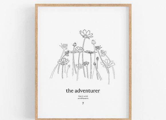 Enneagram 7 - The Adventurer - Flower Print Digital Download