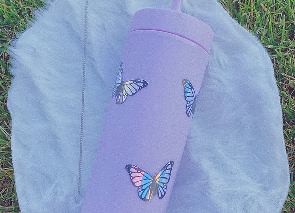 Butterfly Holographic Tumbler
