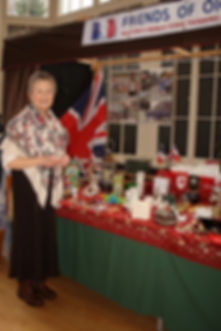 Anne and the Dickensian Market stall.JPG