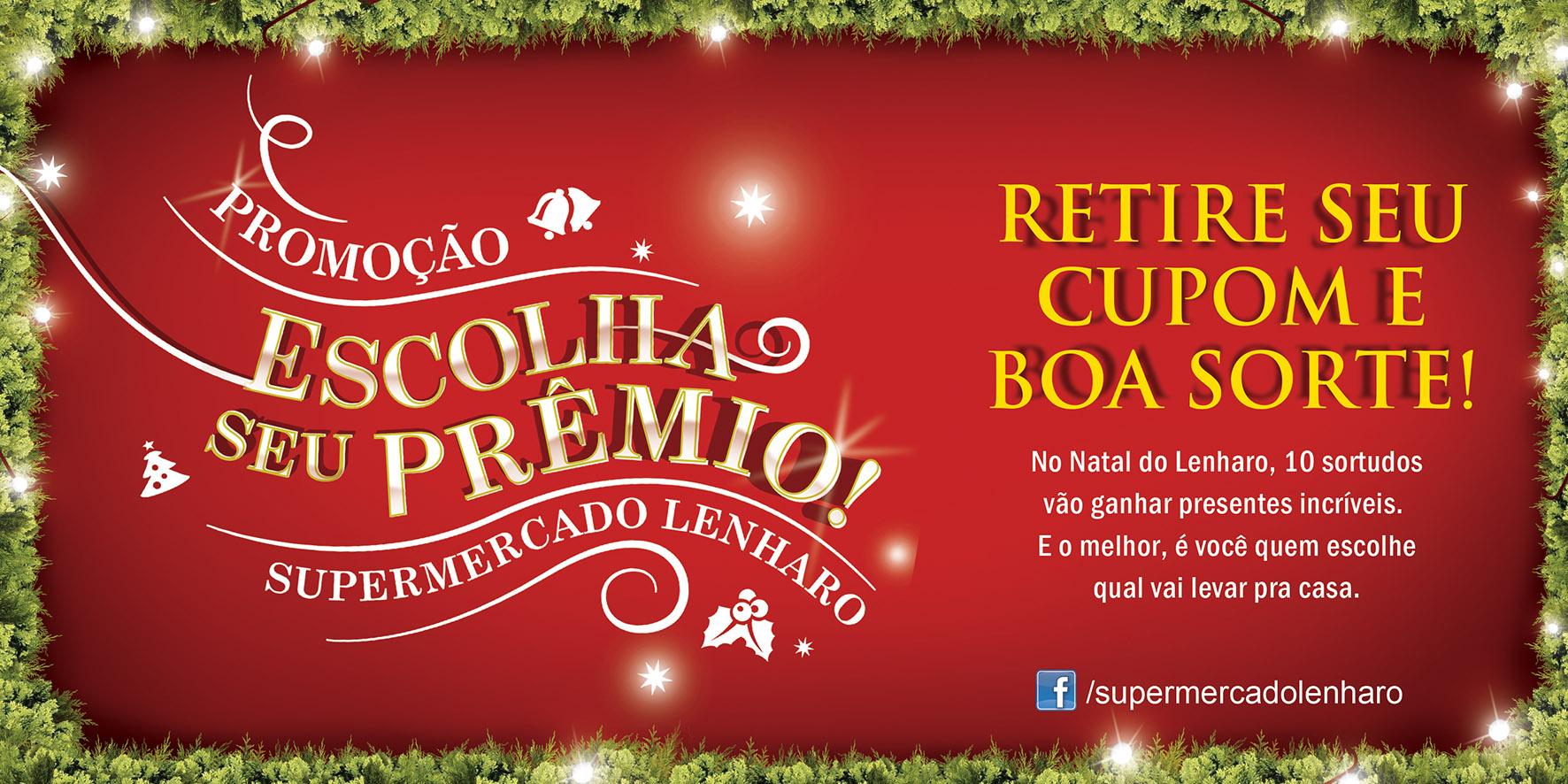 Lenharo - Campanha Natal - Adesivo para o Caixa