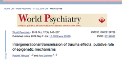 Intergenerational transmission of trauma effects: putative role of epigenetic mechanisms