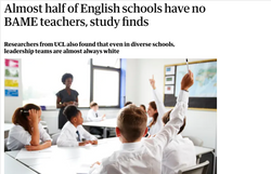 Almost half of English schools have no BAME teachers, study finds
