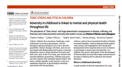 Adversity in childhood is linked to mental and physical health throughout life