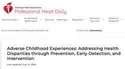 Adverse Childhood Experiences: Addressing Health Disparities through Prevention, Early Detection, an