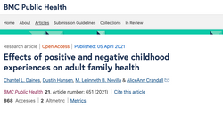 Effects of positive and negative childhood experiences on adult family health