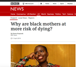 Why are black mothers at more risk of dying?