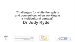 Challenges for white therapists and counsellors when working in a multicultural context