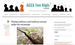Putting resilience and resilience surveys under the microscope