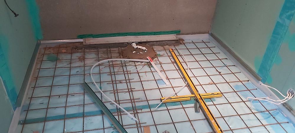 Põranda armeerimine, põrandakütte toru paigaldus ja betoonivalu