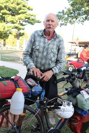 Monroeville - Cyclist Roger sat of fair.