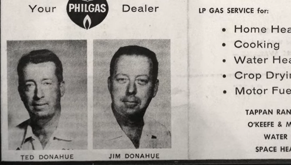 Donahue Gas Newspaper Clipping 2