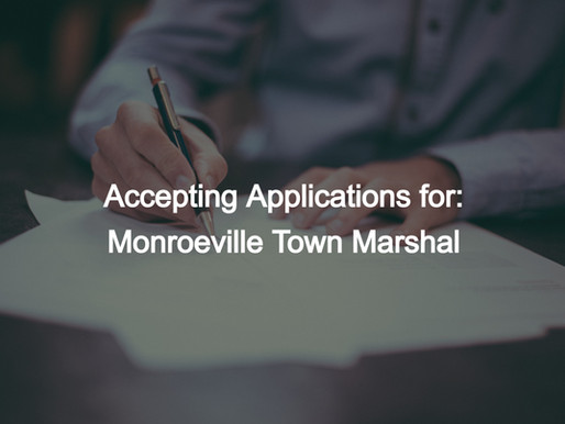 Monroeville Town Marshal Application