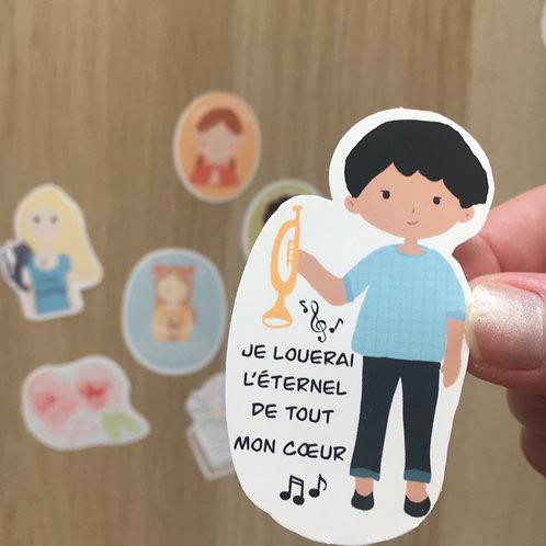 """Sticker """"Je louerai"""""""