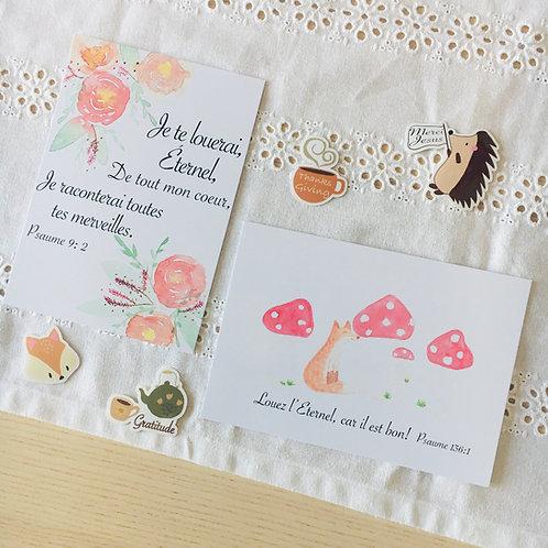 "Carte print d'aquarelle ""Fleurs"""