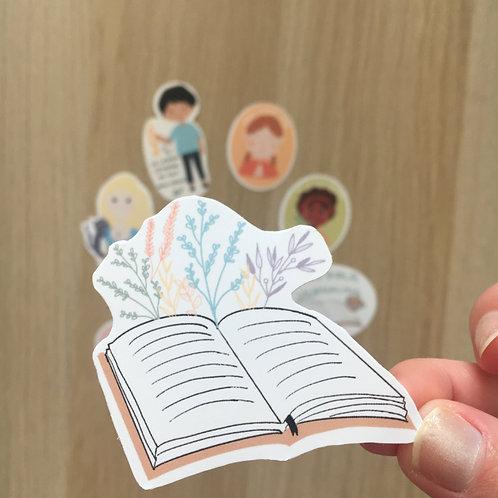 """Sticker """"livre ouvert"""""""