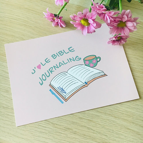 "Carte ""J'aime le Bible Journaling"""