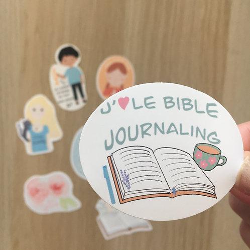 "Sticker ""J'aime le Bible journaling"""