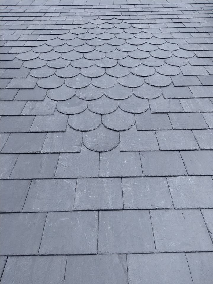 Decorative slate roofing