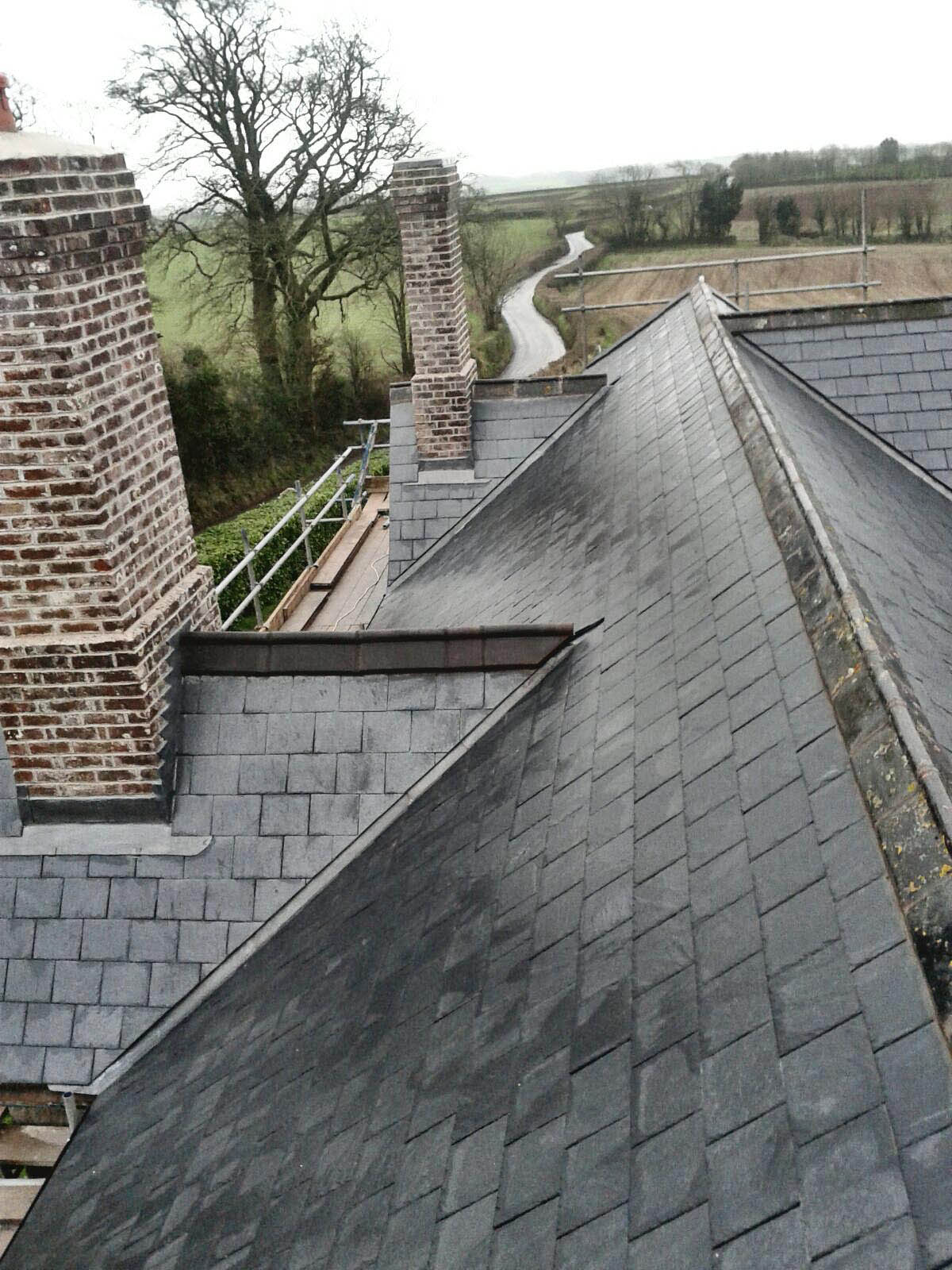Natural slate roofing Tiverton devon