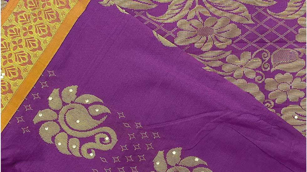 038 - Brocard Silk with stones