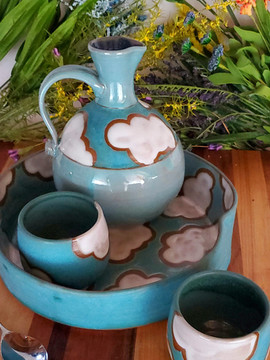 Cloud Decanter and Cup Set