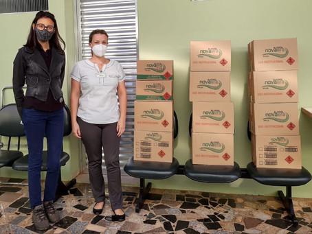 BROTAS | Presidente da Nova Era atende sobrinho e doa álcool 70% ao Hospital Santa Therezinha