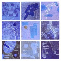 Nr. 5 9tlg. blau    50 x 50 cm