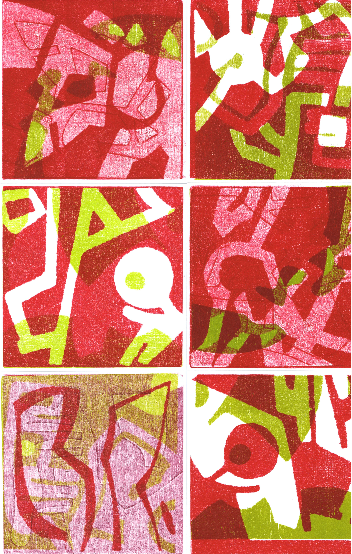 Nr.90 Collage Rottöne
