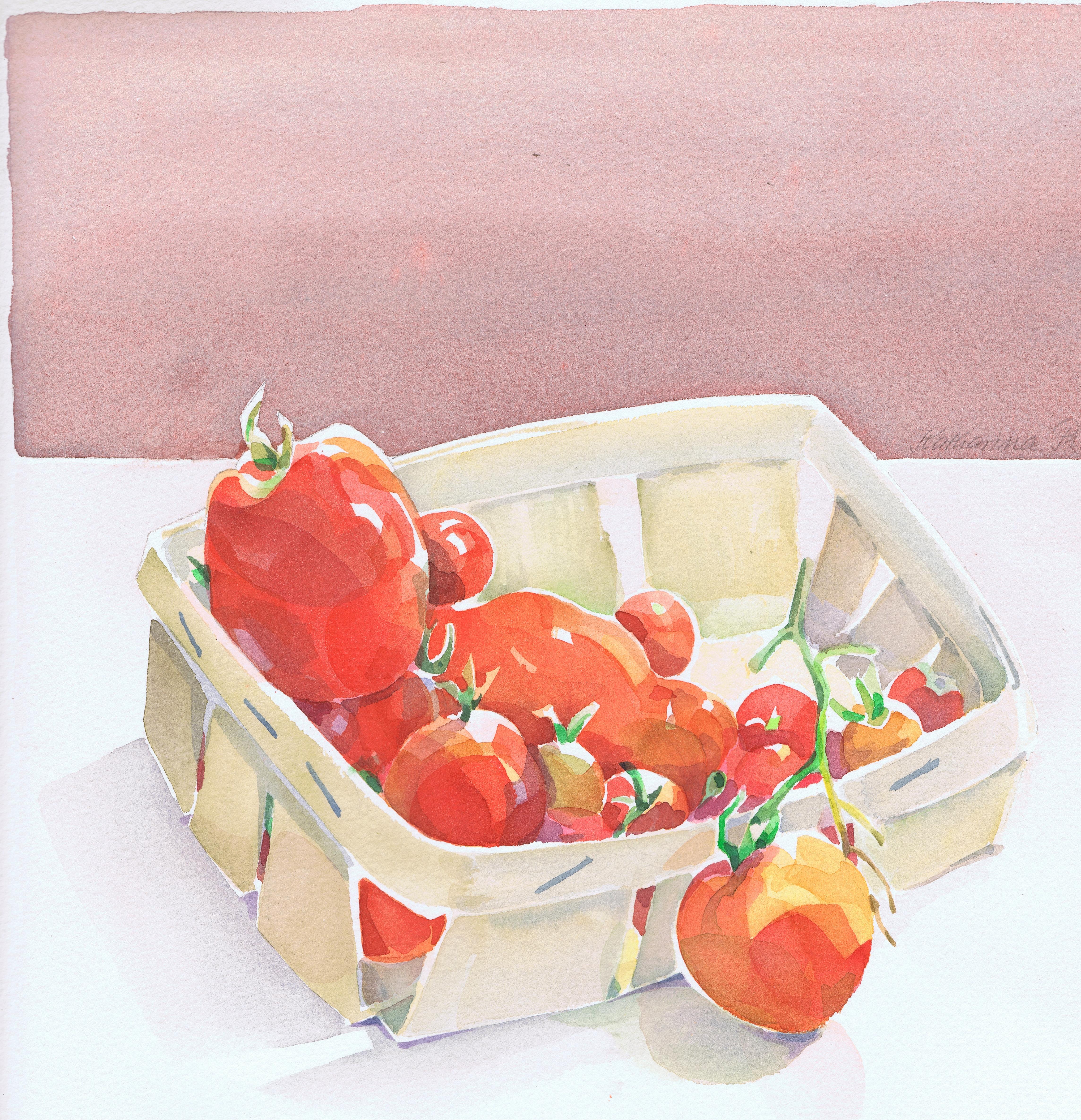 Tomaten im Korb